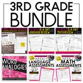 Third Grade Bundle: Language, Grammar, Math, and Reading