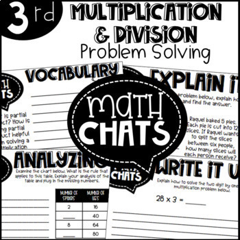 Third Grade Bundle Multiplication and Division Problem Solving