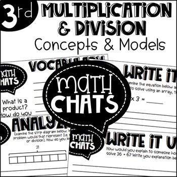 Third Grade Bundle Multiplication and Division Concepts and Models