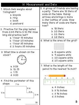 Third Grade CCSS Benchmark Math Assessment [All Standards!]