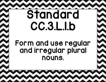"Third Grade CCSS ELA ""I Can"" Posters (Black and White Chevron)"