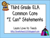 "Third Grade CCSS ELA ""I Can"" Posters (Circus Themed)"