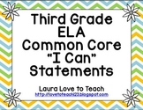 """Third Grade CCSS ELA """"I Can"""" Posters (Flower themed)"""