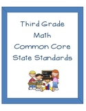 Third Grade CCSS Math Organization Binder Pages