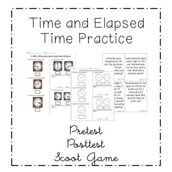 Third Grade CCSS Math Quiz/Assessment 3.MD.1 Time/Elapsed Time