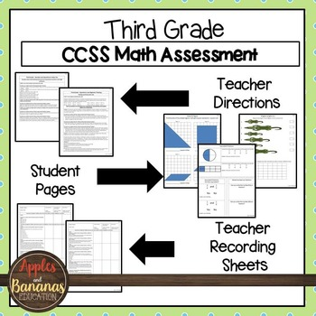 Test Prep Third Grade Math Review - Common Core Tasks for All Standards