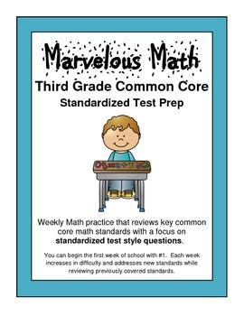 Third Grade CCSS Math Test Prep / Spiral Review #1-5