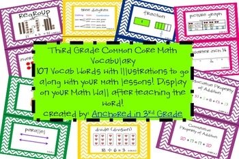 Third Grade CCSS Math Vocab