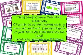 Third Grade CCSS Math Vocab