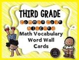 Third Grade CCSS Math Vocabulary Word Wall Cards