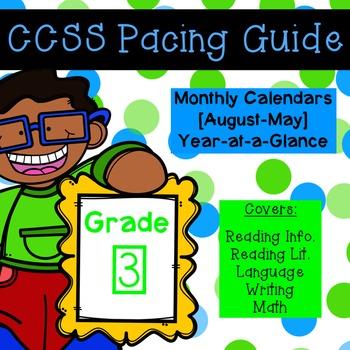 Third Grade CCSS Pacing Guide