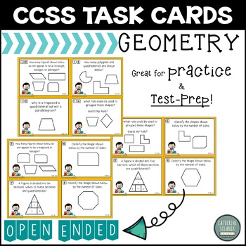 3rd Grade GEOMETRY TASK CARDS Common Core 3.G.A.1