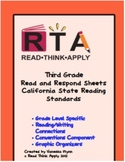 Third Grade California Read and Respond Sheets