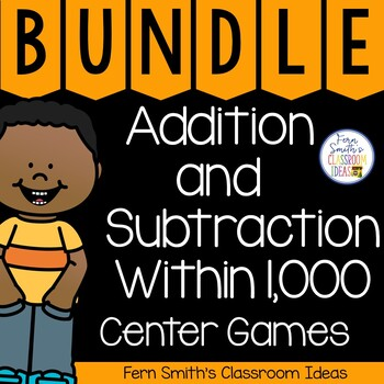 Math Centers Third Grade Addition and Subtraction Within 1000 and Place Value