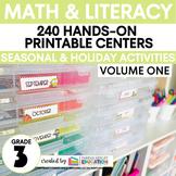 Third Grade Centers Math and ELA — 3rd Grade YEAR LONG BUNDLE