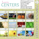Third Grade Centers Math and Literacy — YEAR LONG BUNDLE