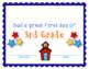 Third Grade Certificates and Awards