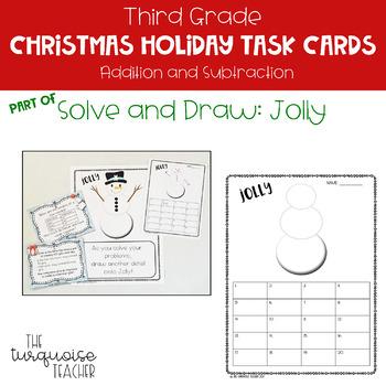 Third Grade Christmas Addition Subtraction Math Task Google Classroom