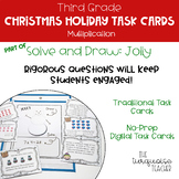 Third Grade Christmas Multiplication Math Task Cards Digital Google Classroom