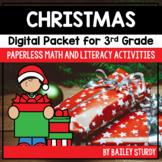 Third Grade Christmas Math and Literacy Digital Packet