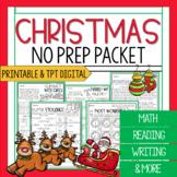 Third Grade Christmas Math and Reading Worksheets | Christ