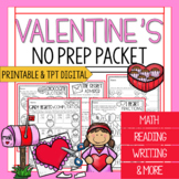 3rd Grade Valentine's Day Packet | Math and Reading Valent