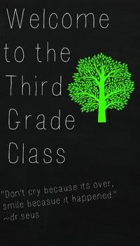 Third Grade Class Welcome Sign