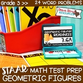 Third Grade Classify & Sort Figures Math Test Prep Review Game | 3rd Grade TEKS
