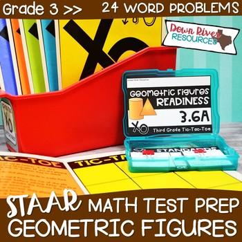 Third Grade Classify & Sort Figures Math Test Prep Review Game   3rd Grade TEKS