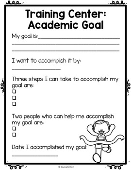 Classroom Guidance Lesson: Academics - Training Center!