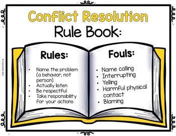 Classroom Guidance Lesson: Conflict Resolution - Play by the Rules