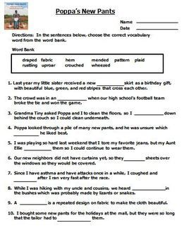 Houghton Mifflin Reading 3rd Grade Cloze Worksheet Half Year Bundle Themes 4-5-6