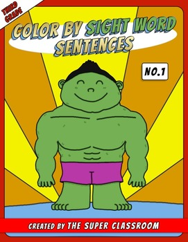 Third Grade: Color by Sight Word Sentences - 001