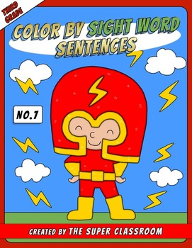 Third Grade: Color by Sight Word Sentences - 007