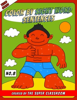 Third Grade: Color by Sight Word Sentences – 008