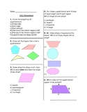 3rd Grade Common Core 3.G.1 Assessment and Sorting Activity