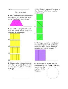 3rd Grade Common Core 3.G.2 Assessment