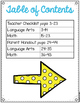 Third Grade Common Core Checklist-Arrows