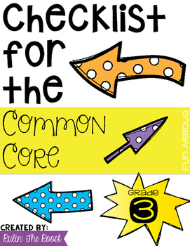 Third Grade Common Core Checklist in Arrows