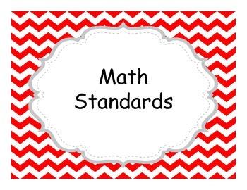 Third Grade Common Core  Chevron Themed Standards