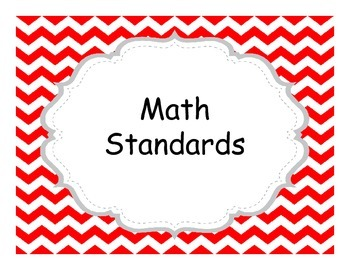 Third Grade Common Core  Chevron Themed Standards