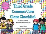 Third Grade Common Core Class Checklist {Now Editable!}
