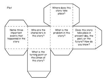 Common Core Cubes Reading Comprehension Activity: Third Grade