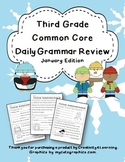 Third Grade Common Core Daily Grammar Review - January Edition