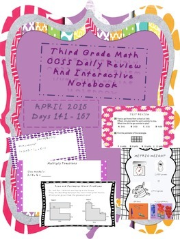 Third Grade Common Core Daily Math - APRIL 2015