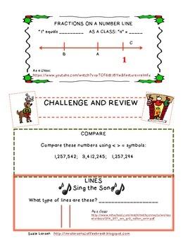 Third Grade Common Core Daily Math - DECEMBER 2014