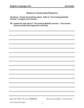 Third Grade Common Core ELA Assessments