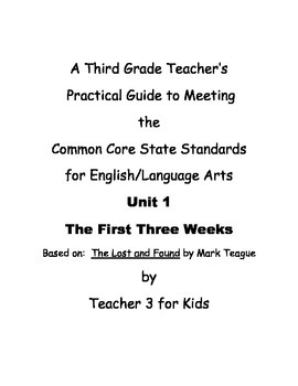 Third Grade Common Core ELA Curriculum Unit 1