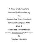 Third Grade Common Core ELA Curriculum Unit 1