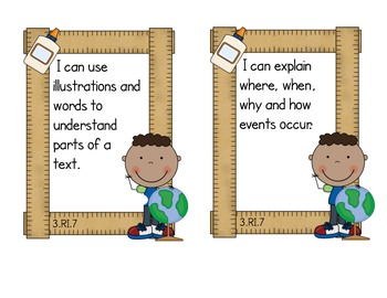 Third Grade Common Core ELA - Informational Text Standards Mini-Posters